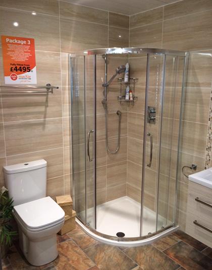 Package 3 mackie bathrooms for Bathroom renovation package